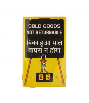 Plaque sold goods