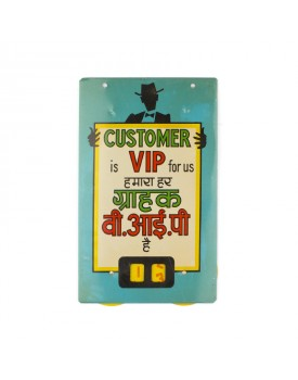 Plaque customer is VIP