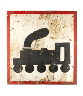 Iron sign from railway