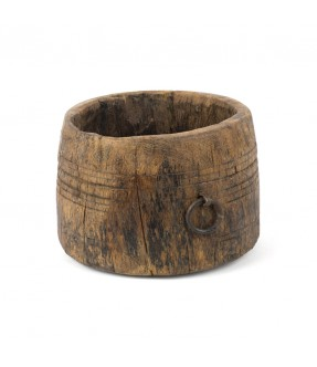 Wooden grain pot