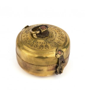 Brass round box