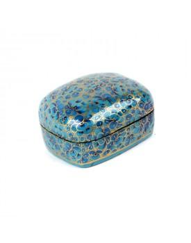 Boîte cachemire bleue