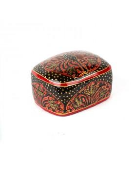 Boîte cachemire rouge et noir