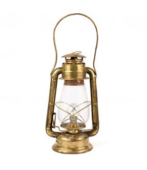 Brass petrol lamp electrified