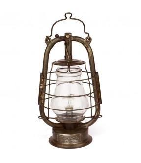 Lampe pétrole électrifiée 1900