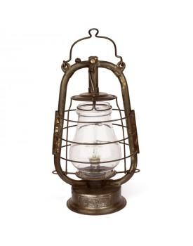 Lampe pétrole électrifiée couleur cuivre