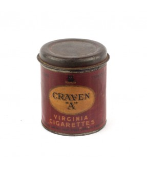 Craven A - old iron cigarette box