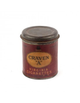 Boîte ancienne cigarette craven A