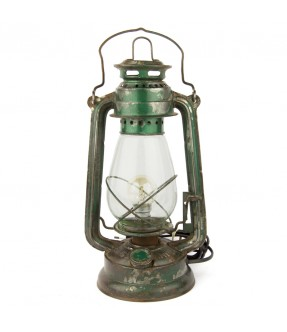 Petrol lamp electrified green