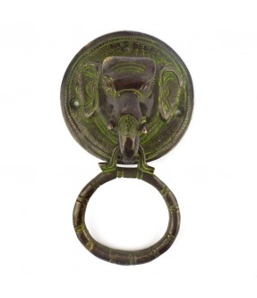 Brass elephant knocker