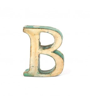 Iron letter B