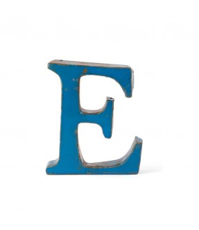 Iron letter E