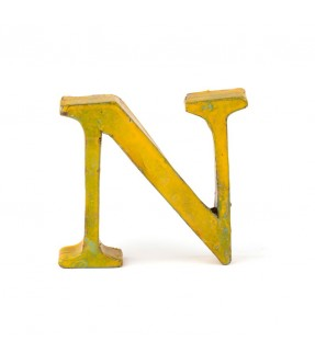 Iron letter N