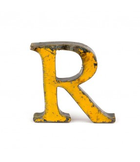 Iron letter R