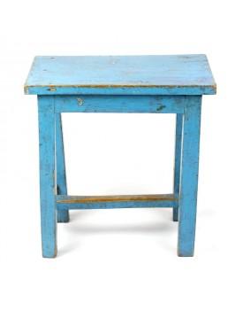 Tabouret rectangle bleu