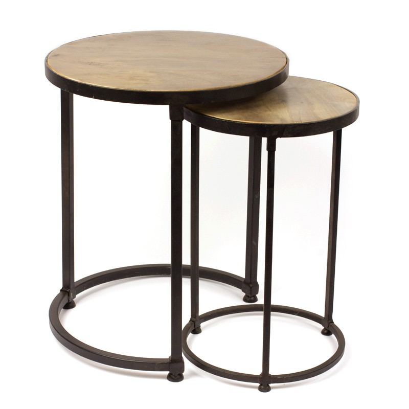table gigogne ronde table. Black Bedroom Furniture Sets. Home Design Ideas