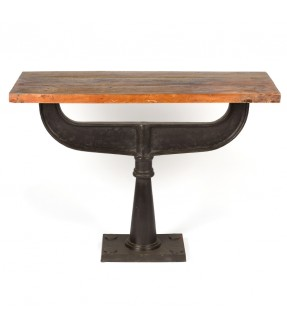 Industrial console - made from old balance & teak  top