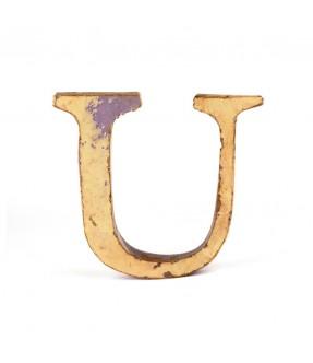 Iron letter U