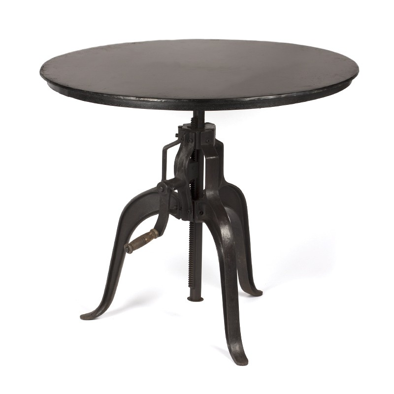 industrial round table up and down system rickshaw. Black Bedroom Furniture Sets. Home Design Ideas