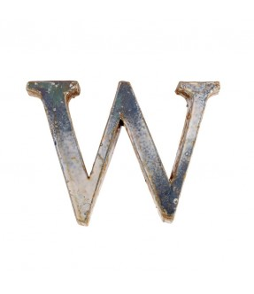 Iron letter W