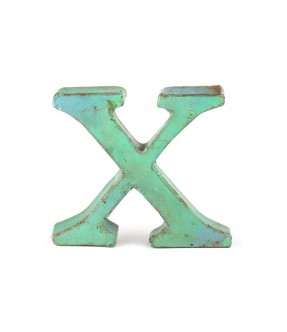 Iron letter X