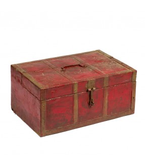 Old box colored - teak wood