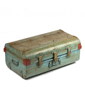Old iron suitcase - made in england