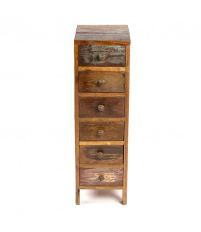 Bed side 6 drawers - teak wood