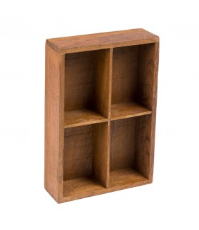 Wall locker teak - 1
