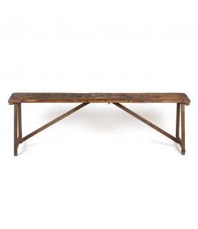 Metal wood bench