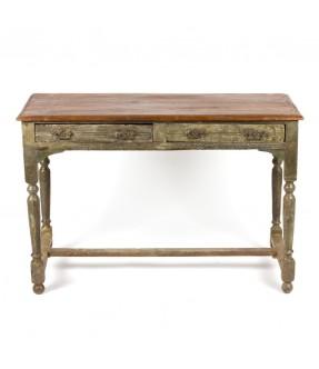 Table - 2 tiroirs - 4 poignées
