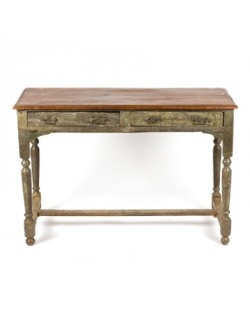 Table - 2 tiroirs - 4 poignées-vue1